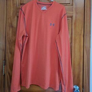 Under Armour cold gear shirt, 2XL, orange